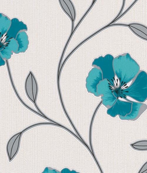 Tapet No. 3 Blå Blomster