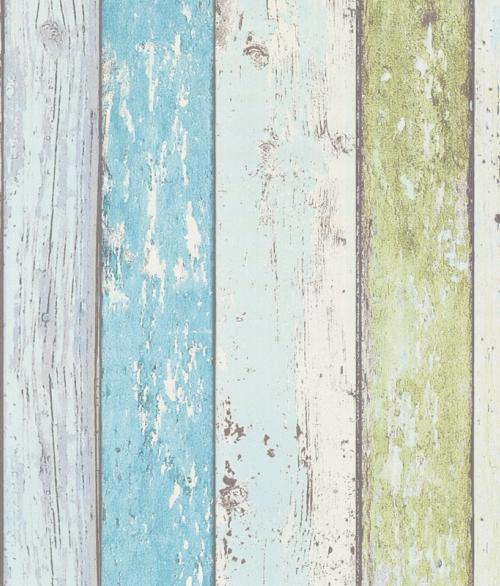 Tapet New England Flerfarvet lys planker