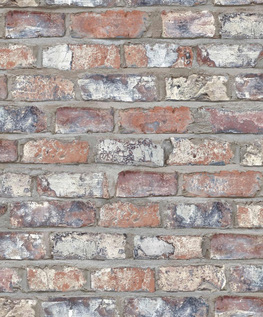 tapet mursten Tapet No. 4 Slidte røde mursten tapet mursten