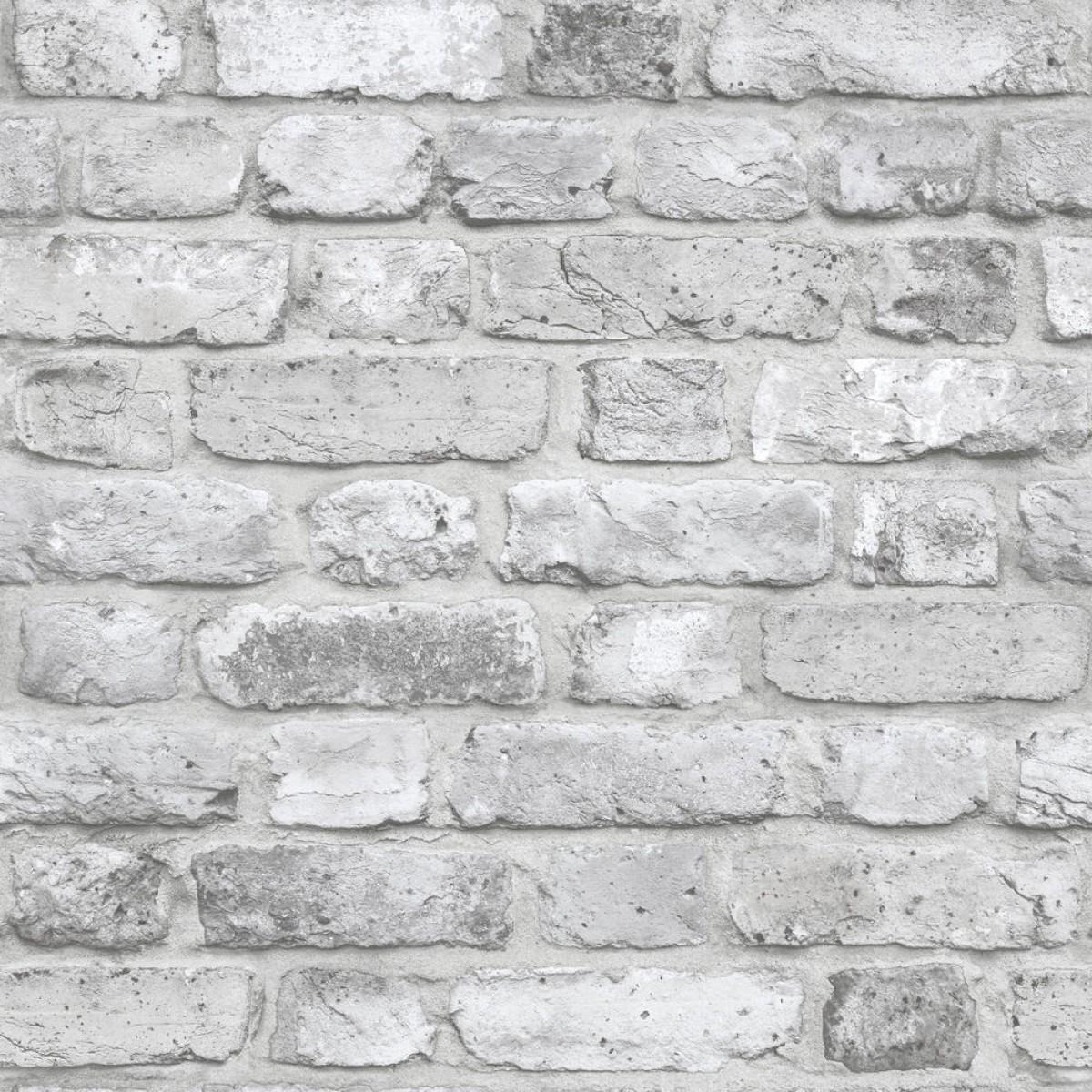 tapet mursten Tapet Façade Grå mursten tapet mursten
