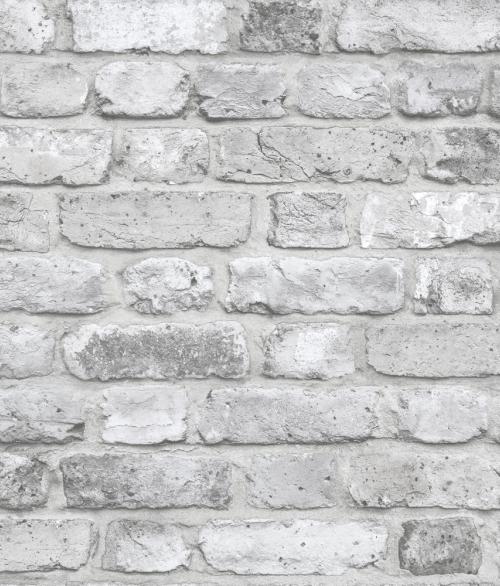Tapet Façade Grå mursten