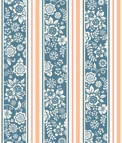 Tapet JR4101 Flower Stripes