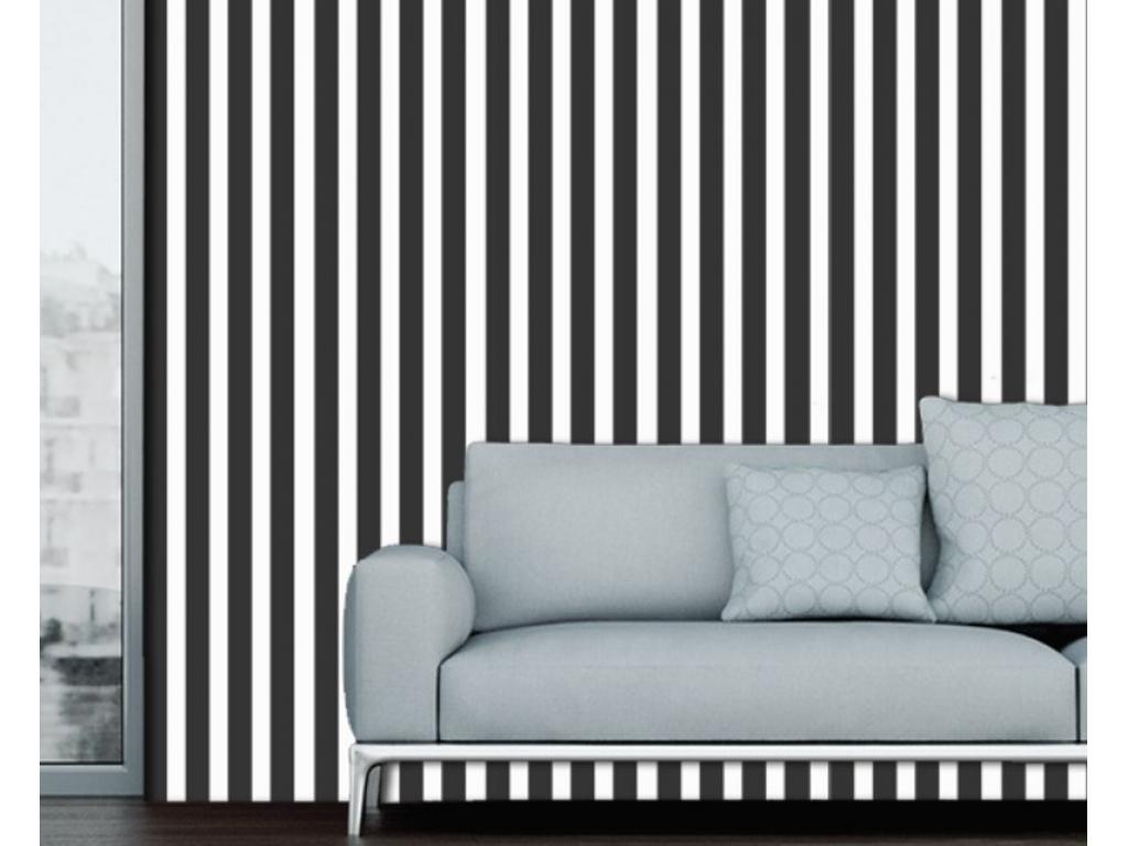 sort hvid stribet gulvtæppe